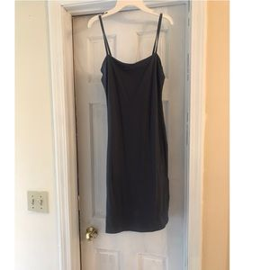 Strapless charcoal dress!